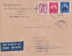 BELGIQUE  1947 PLI AERIEN DE ANTWERPEN - Cartas