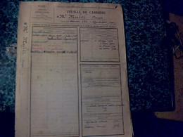 Vieux Papier  Feuille De Carrière De 1928 A 1945 D'un Employé Des PTT à Radio Tanger Maroc Mr Mulet Nè A Mers El Kébir - Non Classificati