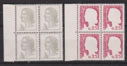 DECARIS N° 1263 Neuf Xx En Bloc De 4  - Sans Couleur Grise Et Rouge - Superbe - Variétés: 1960-69 Neufs