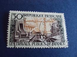 """1950-59  - Oblitéré N°  1114   """"   Travaux Publics  """"   """"   Paris    """"   Net 0.80 - Usados"""