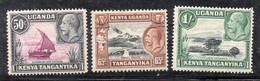 XP4625 - KENYA UGANDA TANGANYKA 1935 , Tre Valori * Linguellati (2380) - Kenya, Uganda & Tanganyika