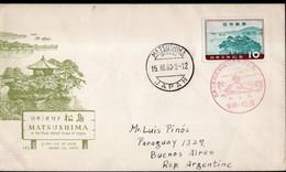 Japon - 1960 - FDC - Lettre - Matsushima - A1RR2 - Lettres & Documents