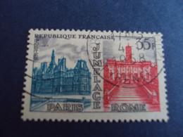 """1950-59  - Oblitéré N°  1176   """"   Jumelage Paris-rome   """"   """"    1958""""      Net   0.50 - Usados"""