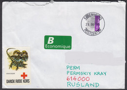 2015-COVER FROM DENMARK/HILLEROED TO RUSSIA - Cartas