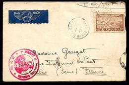 1937 MAROC Lettre Par Avion FM Cachet Militaire 2e Régiment De Tirailleurs Marocains Le Colonel * Marcophilie - Poste Aérienne