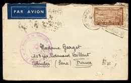 1936 MAROC Lettre Par Avion FM Cachet Militaire 2e Régiment Tirailleurs Marocains Le Colonel Cachet Daguin Marcophilie - Poste Aérienne