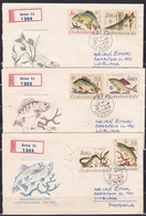 Czechoslovakia, 1966, Fishes, FDC, Mailed To Yugoslavia - Pesci