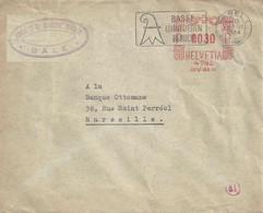 """Zensur Brief  """"Société De Banque Suisse, Bâle"""" - Marseille           1944 - Briefe U. Dokumente"""