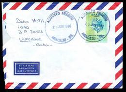 1996 Lettre Par Avion BRESIL BRASIL AUGUSTO FRANCO Aracaju  / SE Vers France * Marcophilie - Cartas