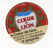 Mar21  14640   étiquette  Camembert Coeur De Lion   Recherche Voyageur - Formaggio
