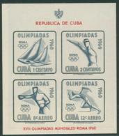Kuba 1960 Olympia Sommerspiele Rom Block 18 Postfrisch (C21970) - Unused Stamps