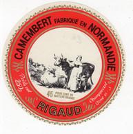 Mar21 613201   étiquette  Camembert Rigaud  Champsecret - Formaggio