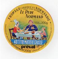 Mar21  75009    étiquette  Fromage Le Père Normand  Préval - Formaggio