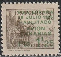 LOTE 2188  /// (C130)  ESPAÑA 1937 CANARIAS 11ed. CAMBIO DE COLOR DE LA HABILITACION - 1931-50 Neufs