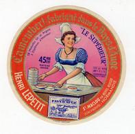 Mar21  14852    étiquette   Camembert Henri Lepetit - Formaggio