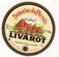 Mar21   L 040   étiquette   Livarot   Domaine Du Plessis - Formaggio