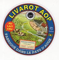 Mar21  L  029 D    étiquette   Livarot AOP - Formaggio