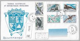 30 - TAAF Série PO55/60 Du 1.1.1976 ALFRED FAURE - CROZET- Premier Jour - FDC - FAUNE POLAIRE  - Arrivée 10.4.1976 - - Briefe U. Dokumente