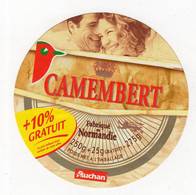 Mar21   20001    étiquette    Camembert  Auchan   10 % Gratuit - Formaggio