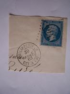 FRANCE ALGERIE FRANCAISE 1863 PHILIPPEVILLE NAPOLEON III - 1849-1876: Période Classique