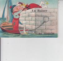 83 TOULON  -  Un Baiser De TOULON  -  Carte à Système Avec Petites Vues  - - Toulon