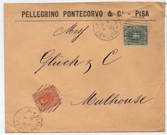 ITALIA - PISA / 1895 - ENVELOPPE A ENTÊTE POUR MULHOUSE (ref 4642c) - Poststempel