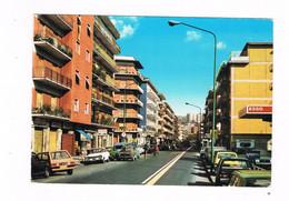 NAPOLI  FUORIGROTTA SOCCAVO PIANURA VIA EPOMEO N. 2 KOLOR ANIMATA AUTOMOBILI ANNI 60 ESSO DISTRIBUTORE - Napoli (Naples)