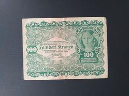 AUTRICHE 100 KRONEN 1922 - Austria