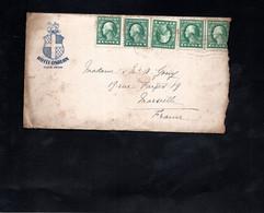 LAC 1922 - Entête - HOTEL OSBURN - Eugene, Oregon / Au Dos Cachet MARSEILLE - Briefe U. Dokumente