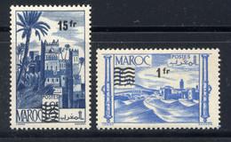 MAROC - N° 327/328** - TIMBRES SURCHARGES - Ungebraucht