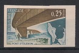 France - 1966 - N°Yv. 1489a - Oléron - Non Dentelé / Imperf. - Neuf Luxe ** / MNH / Postfrisch - Variétés: 1960-69 Neufs