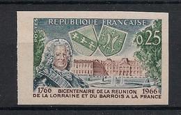 France - 1966 - N°Yv. 1483a - Lorraine - Non Dentelé / Imperf. - Neuf Luxe ** / MNH / Postfrisch - Variétés: 1960-69 Neufs