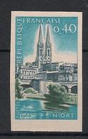 France - 1966 - N°Yv. 1485a - Niort - Non Dentelé / Imperf. - Neuf Luxe ** / MNH / Postfrisch - Variétés: 1960-69 Neufs