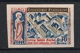 France - 1960 - N°Yv. 1280a - Sainte Barbe - Non Dentelé / Imperf. - Neuf Luxe ** / MNH / Postfrisch - Variétés: 1960-69 Neufs