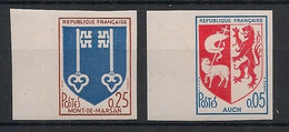 France - 1966 - N°Yv. 1468 / 1469 - Blasons - Non Dentelé / Imperf. - Neuf Luxe ** / MNH / Postfrisch - Variétés: 1960-69 Neufs