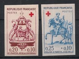 France - 1960 - N°Yv. 1278 à 1279 - Croix Rouge - Non Dentelé / Imperf. - Neuf Luxe ** / MNH / Postfrisch - Variétés: 1960-69 Neufs