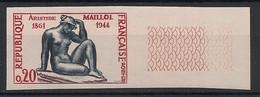 France - 1961 - N°Yv. 1281a - Maillol - Non Dentelé / Imperf. - Neuf Luxe ** / MNH / Postfrisch - Variétés: 1960-69 Neufs