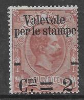 Italia Italy 1890 Regno Valevole Per Le Stampe C2 Su C50 Sa N.52 Nuovo MH * - Ungebraucht
