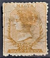 MALTA 1863 - Canceled - Sc# 1 - 0.5d - Malta (...-1964)