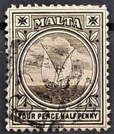 MALTA 1899 - Canceled - Sc# 15 - 4.5d - Malta (...-1964)