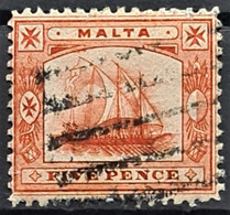 MALTA 1899 - Canceled - Sc# 16 - 5d - Malta (...-1964)
