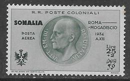 Italia Italy 1934 Colonie Somalia Mogadiscio Aerea L25 Sa N.A16 Nuovo MH * - Somalië