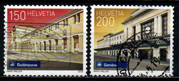SVIZZERA - 2016 - CITTA' SVIZZERE: BELLINZONA E GINEVRA - USATI - Gebraucht