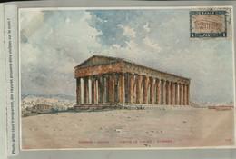 Athènes, TEMPLE DE THESEE   Illustrateur  Illustration  Aquarelle De Giallina  (Mars Eur 2021 55) - Griekenland