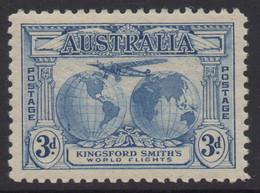 AUSTRALIA 1931 KINGSFORD SMITH'S FLIGHT 3d BLUE AIR MAIL STAMP MNH - Ungebraucht