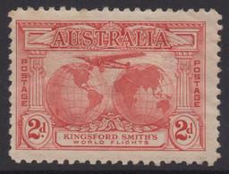 AUSTRALIA 1931 KINGSFORD SMITH'S FLIGHT 2d ROSE - RED  AIR MAIL STAMP MINT - Ungebraucht