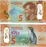 New Zealand 5 Dollars 2015 UNC - New Zealand