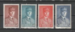 FRANCE / 1941 / Y&T N° 470/473 ** : Pétain (GF) Série Complète 4 Valeurs X 1 - Unused Stamps