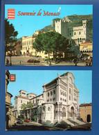 """MONACO . """" LE PALAIS """" & """" LA CATHÉDRALE """" . 2 CPM - Réf. N°28937 - - Collections & Lots"""