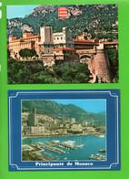 """MONACO . """" LE PALAIS VUE DES REMPARTS """" & """" LE PORT, LA PISCINE ET MONTE-CARLO """" . 2 CPM - Réf. N°28939 - - Collections & Lots"""